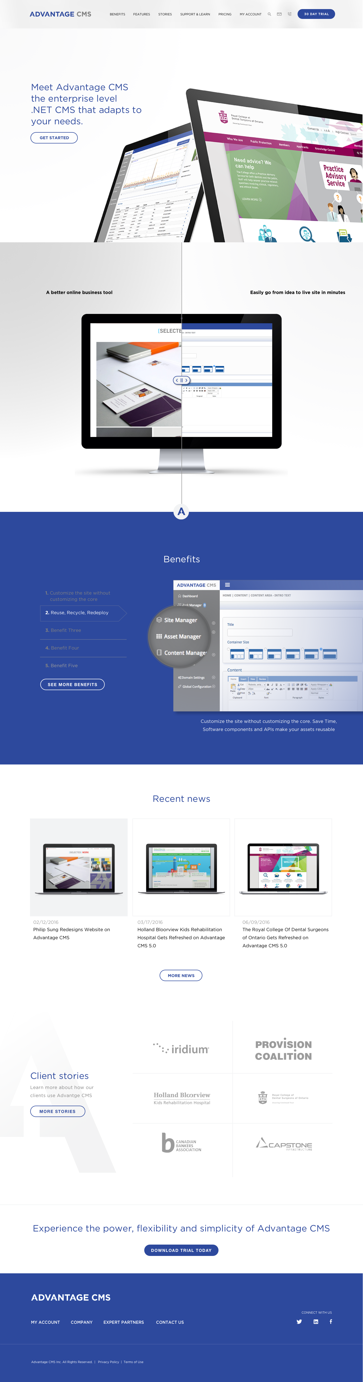 Acms homepage dribbble