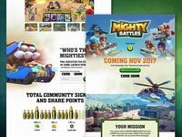 Mighty Battles Landing Page