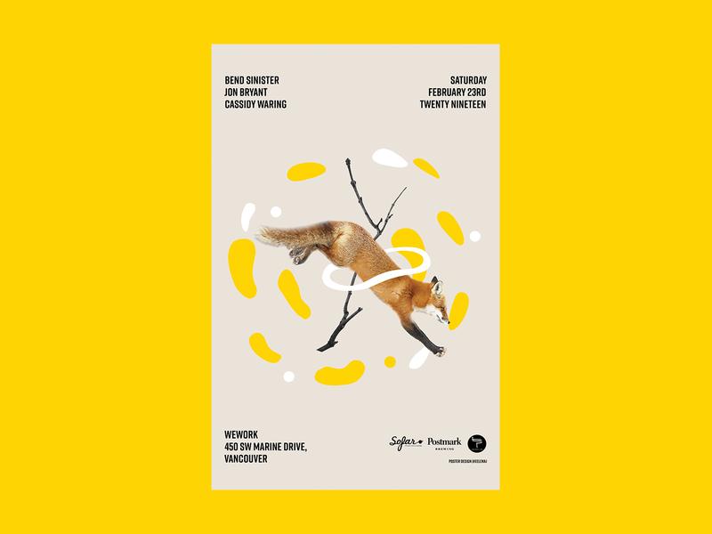 Sofar Music Event Poster #1 illustration animal graphic  design design poster event music