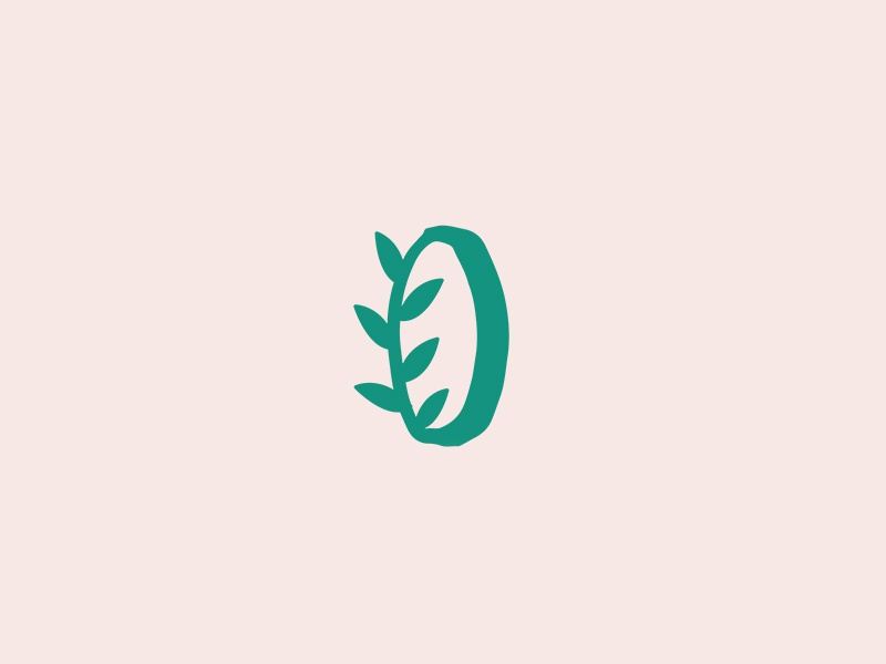 Leafy O vancouver o leaf sustainable idenity typography icon logotype logo branding