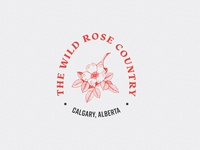 Wild Rose Country typographic dribbbleweeklywarmup dribbble canada alberta badge illustration design
