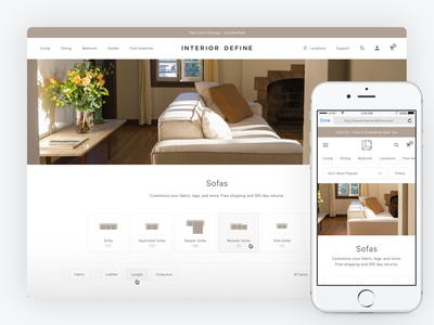 Interior Define Category Page Redesign