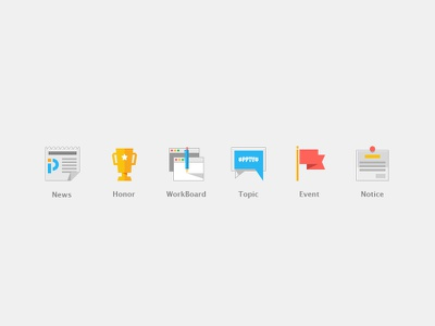 icon for pptv OA notice event topic workboard honor news icon