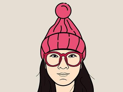 girl cap glasses girl