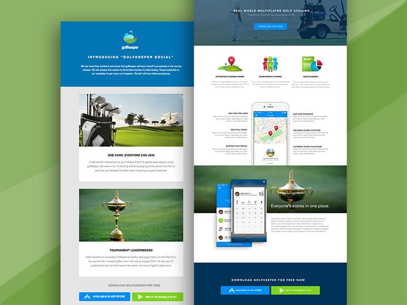 Golfkeeper website