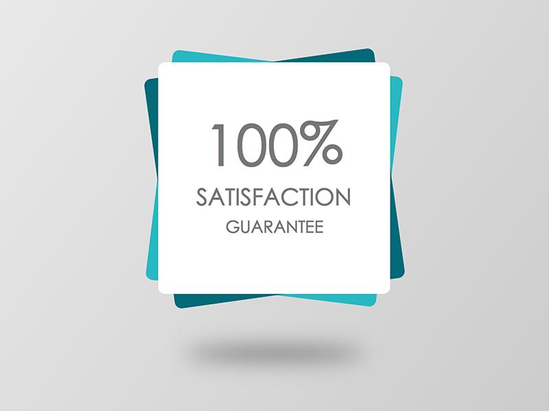 """FREE modern """"Satisfaction Guarantee"""" badge download free minimal badge ui design moderan"""