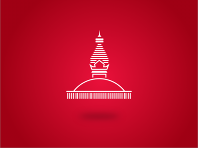 Swayambhunath Stupa Icon temple monk buddhist minimal icon flat nepal swayambhunath budhha stupa