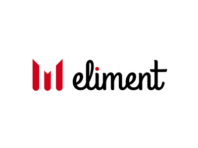 Eliment, a new startup/product startup black red logo