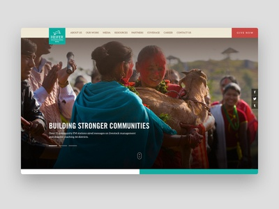 Homepage of the website for a Non-profit