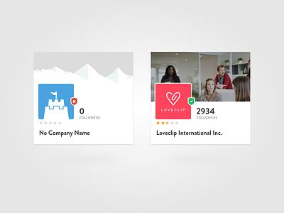 Profile Summary Cards ux design ui design card company summary profile