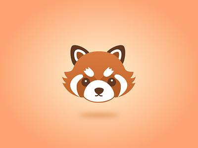 Red Panda bear nepal china logo icon design mascot panda