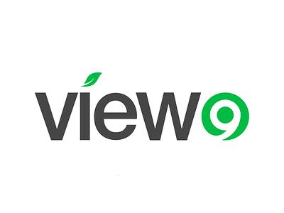 Logo concept for View9 face lift revamp green branding logo