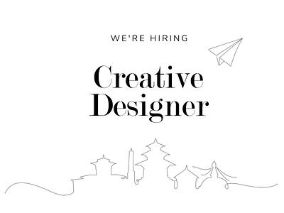 We're Hiring kathmandu creative ux ui illustrator designer