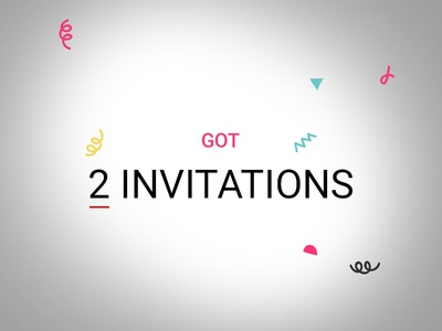 Dribbble Invitations!