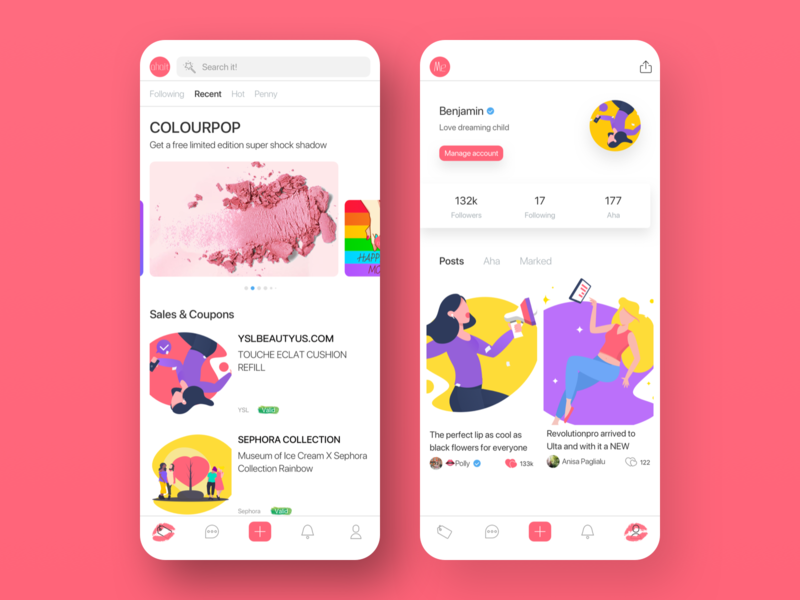 Become beautiful APP design card colour illustration ux app ui