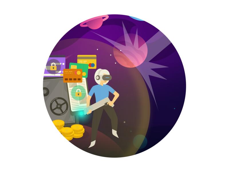 Space war 图标 logo icon design illustration card colour ux app ui