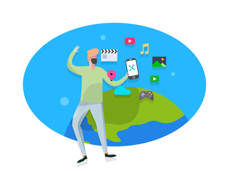 App paid illustration design 1 图标 logo icon design illustration card colour ux app ui