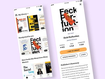 Book Recommendation iphone typogaphy ibooks