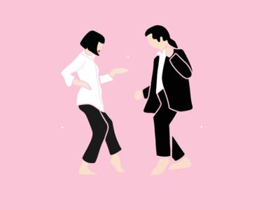 Pulp fiction dance tarantino john travolta mia wallace movies pink dance pulp fiction