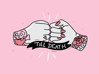 Friends till the end love end death tattoo hands friendship friends