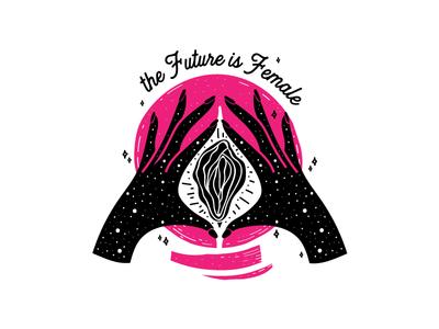 Future Hands girls girl power feminist feminism female gypsy teller fortune teller galaxy hands