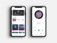 Music APP home page and play page