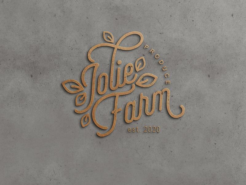 Jolie Farm - Visual Identity typography design logo branding