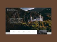 Schloss Neuschwanstein Website Concept