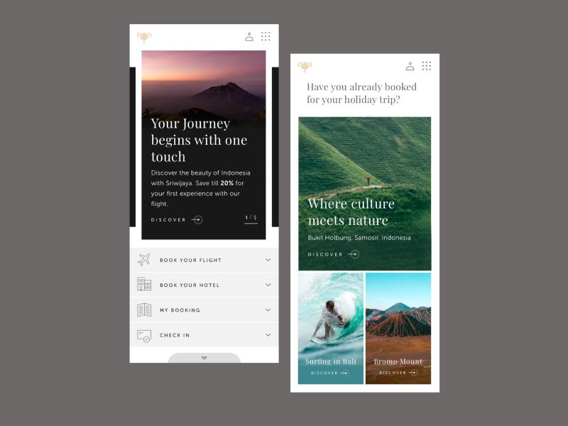 Sriwijaya Website Mobile Concept web concept airline mobile flat ui interface webdesign travel website desktop