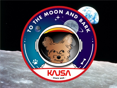 Space Dog Patch nasa patch design dog moon space
