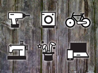 Repairwhere app icons icons pictograms vector illustration app