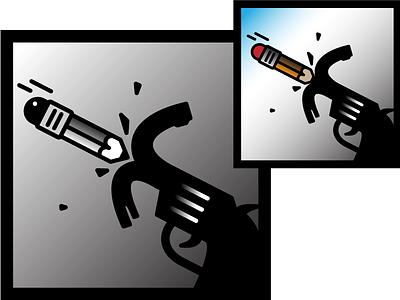 Pen 4 Gun icon pictogram