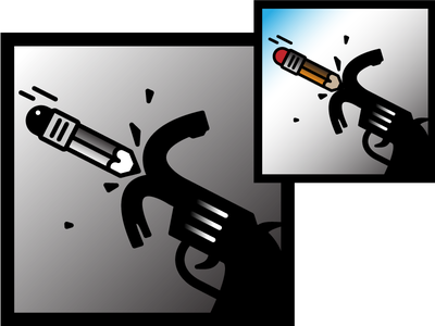 Pen 4 Gun  icon pictogram
