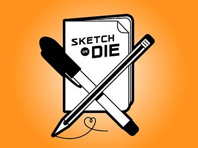 Sketch or die t-shirt sketch logo