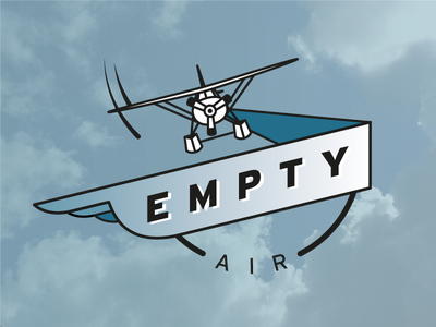 Empty Air Logo plane sky flying logo airplane