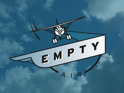 Empty Air Logo plane sky flying logo airplane
