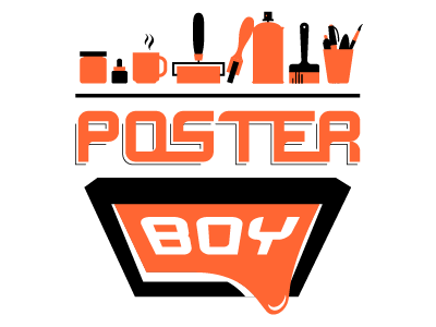 Posterboy logo icons pictograms logo vector illustration