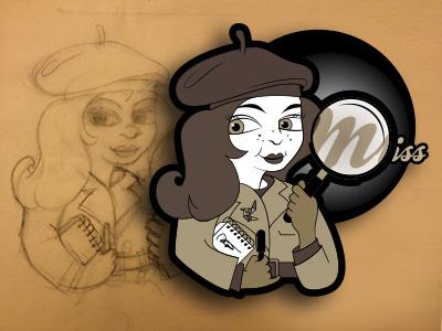 Miss Tenkelig Logo icons pictograms logo vector illustration