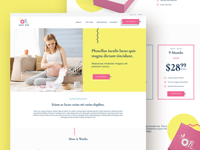 Pregnancy Subscription Box Homepage subscription box design webdesign homepage