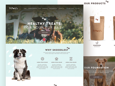 Organic Dog Food Homepage Design organic food dog food organic design food webdesign homepage