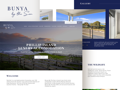 Rental Presentation Homepage Design & Logo Design homepage design phillip island australia logo design travel vacation house rental