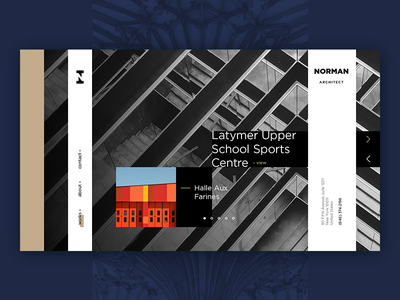 Norman Architect modern minimal webdesign architect clean ux ui