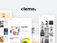 Clemo – PSD Template