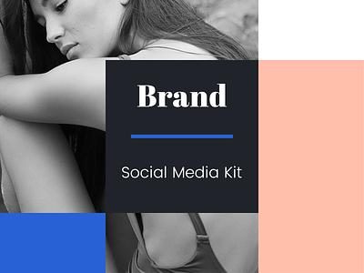 Brand Social Media Kit download design style promotion instagram facebook fashion smm social media ui kit