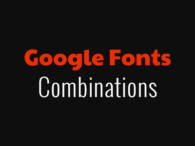 Google Fonts Combinations typography font combinations font pairs google fonts download freebie free