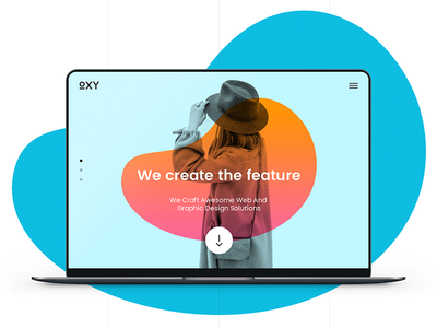 Oxy Creative Template simple psd. modrn sketch theme template landing team portfolio creative