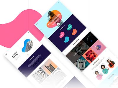 Oxy Creative Template creative portfolio team landing template theme sketch psd. modrn simple
