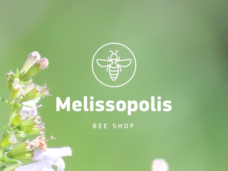 Melissopolis logo bee logotype logo beekeeping beekeeper shop