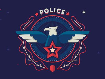 Police insignia sherif star illustration symbol shield police eagle badge