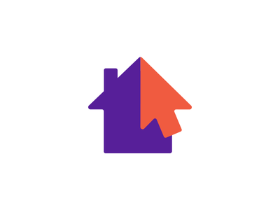 Refugee Center Online logotype home support computer cursor symbol icon house immigrant website online refugee logotype